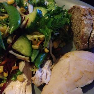 kyckling och sallad